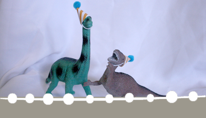 Add some whimsy to your dinosaur party theme with these mini party hats!