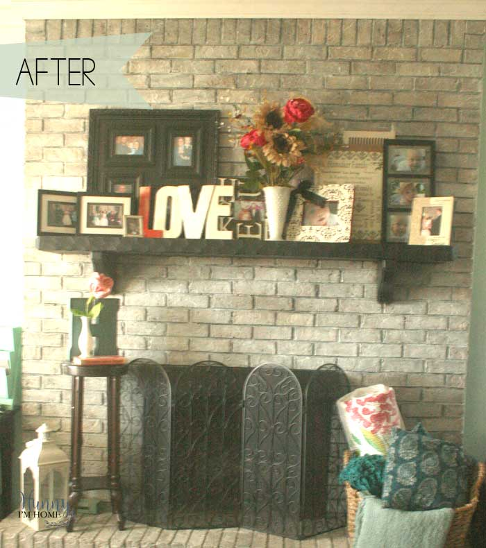 My Diy Farmhouse Fireplace Makeover For Under 40
