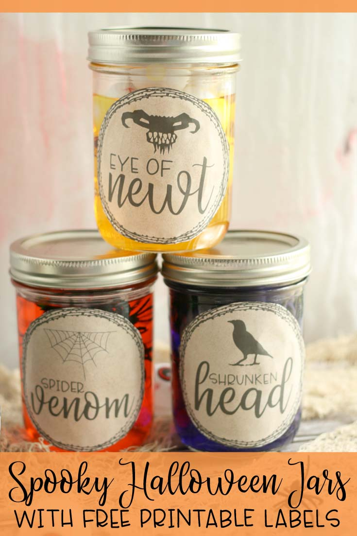 Spooky Halloween Jars With Farmhouse Halloween Labels Hunny I M Home