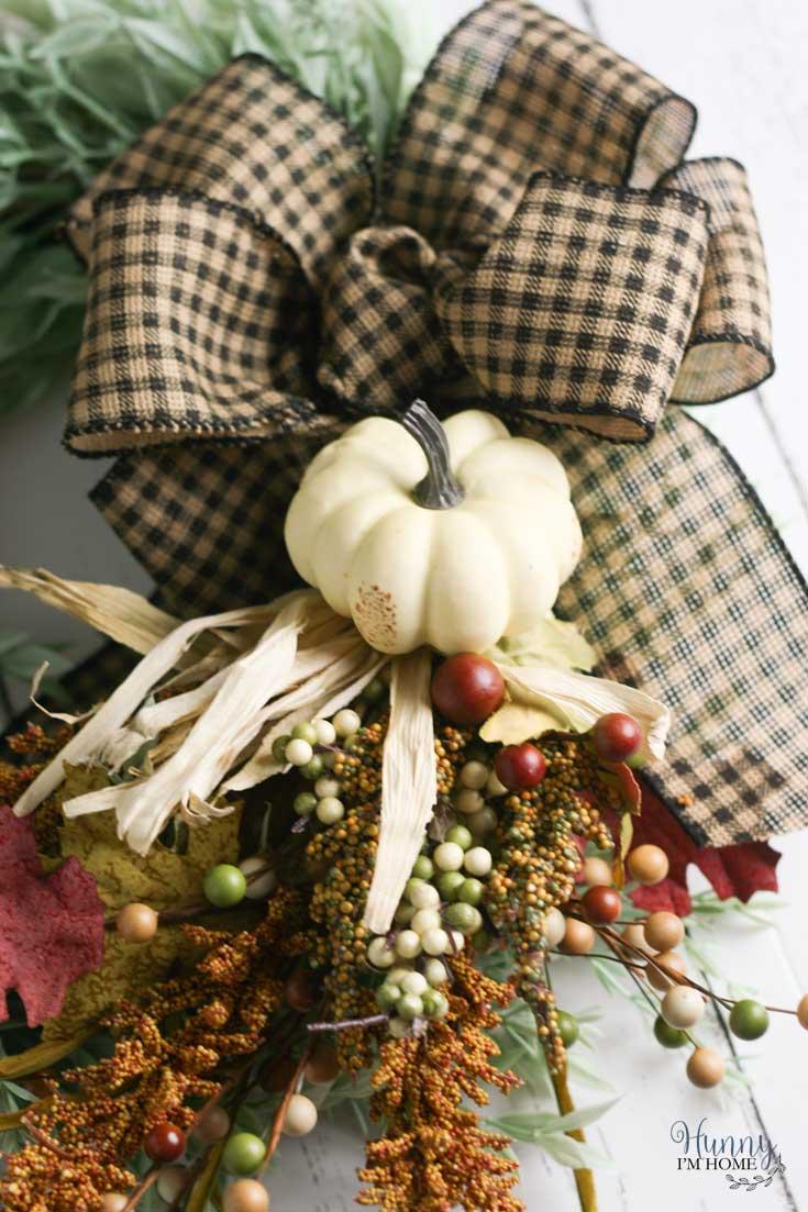Diy Fall Farmhouse Wreath With Removable Bow Hunny I M Home