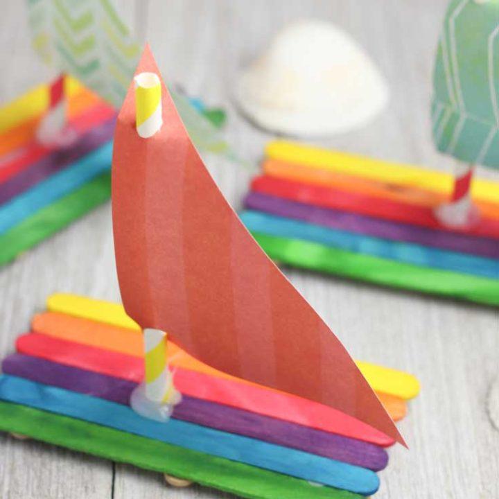 Floating Popsicle Stick Boat Craft for Kids   Hunny I'm Home