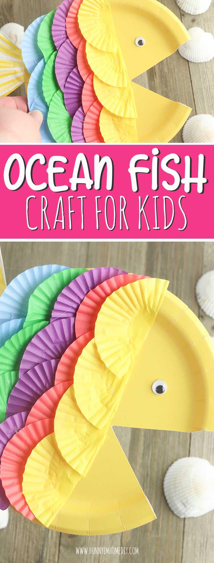 Paper Plate Fish Preschool Beach Craft Hunny I M Home