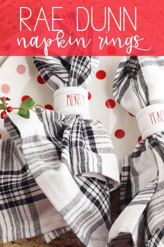 Easy Diy Rae Dunn Christmas Napkin Rings With Free Svg